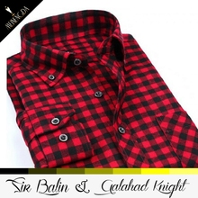 Factory direct price new fashion style plaid flannel long sleeve 100% cotton shirt for men