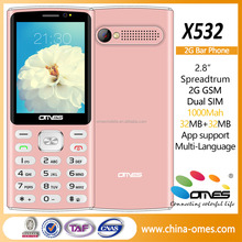 2017 latest 2.8inch cheap bar style basic feature phone X532
