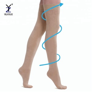 Medical thigh high compression stockings varicose veins