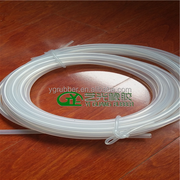 Clear silicone hose for medical use
