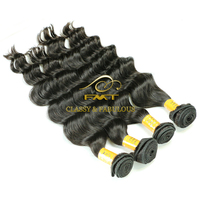 FMT New Arrival Peruvian 1b Color Deep Wave Hair, 9A Remy Virgin Hair Weave