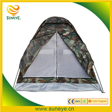 Camping Tent for 2 Person Single Layer Outdoor Portable Camouflage polyester fabric Tents PU1000mm Carry Bag