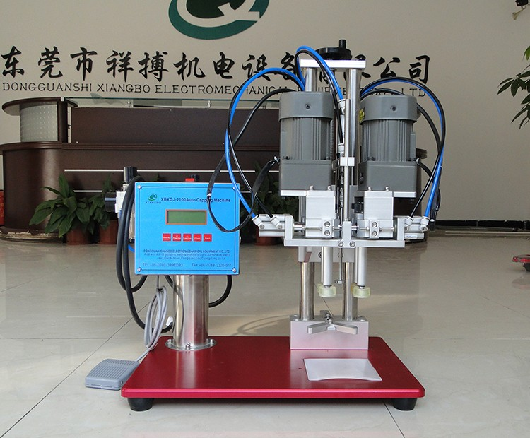 Semi automatic plastic water bottle capping machine
