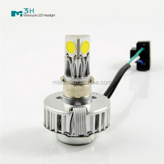 Motorcycle high power light M3H hi/lo beam 24W 2500lm 6000k led motorcycle headlight kit bulb