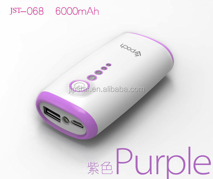 New 6000mAh Power Bank / USB External Backup Battery Pack Charger for iPhone / samsung Galaxy S3 S4, Fit all Mobile phone