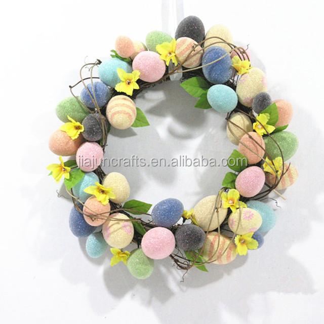 Artifical handcraft Easter Egg decorative Wreath