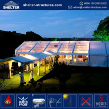 Heavy duty used promotional aluminum alloy frame weding party event tents with ventilator window for sale