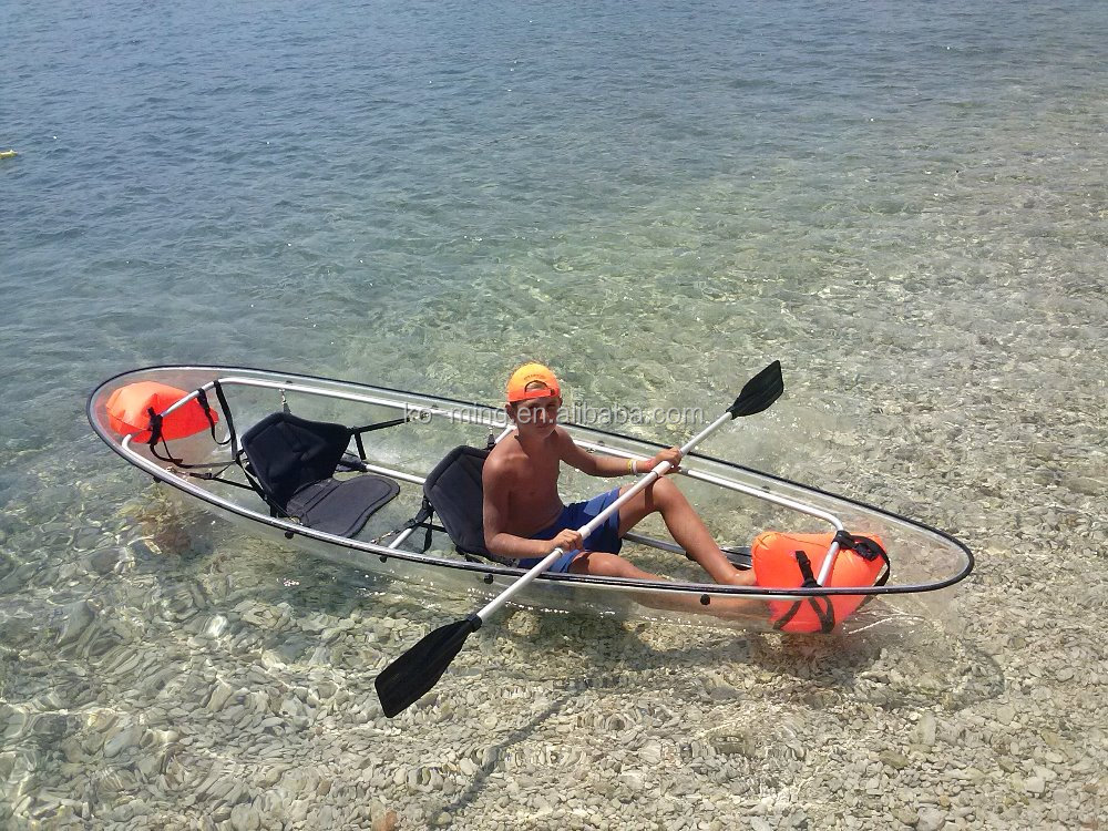 hot sale amazing 100% transparent/clear pc kayak folding kayak inflatable kayak