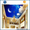 3d wallpaper hotel/home ceiling good decor bedroom /living room roof mural ceiling wall paper