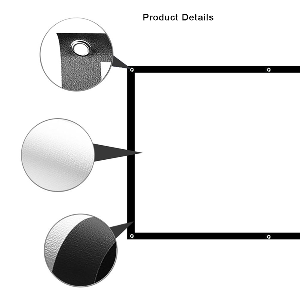 100 Inch Simple Projector Screen-03