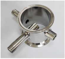 Sanitary Stainless Steel Pipe Fittings Spool Tri Clamp Manifold Fitting