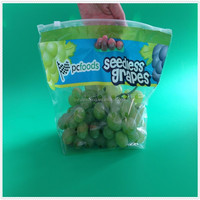 Plastic Grape Bag/perforated Bag/slider Ziplock Grape Bag