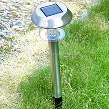 Supper Bright stainless steel solar powered led pathway light,decorative and brightening up you garden,street at night