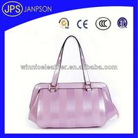 bright pink elegant fashion trend lady tote bag pu leather handbag wholesale