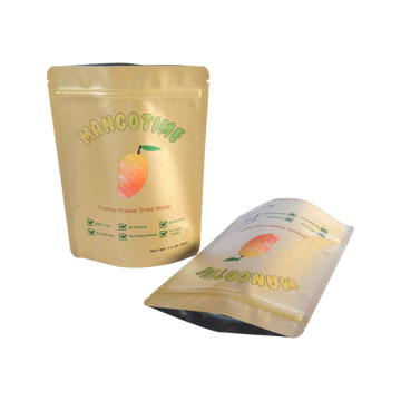 FDA Fruit packaging Stand top pouch Kraft paper bag
