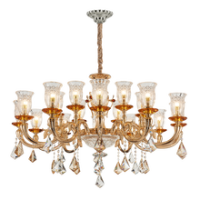 China Supplier Modern European style vintage chrome Electroplated chandelier for decoration
