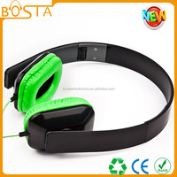 2015 New design on sale hot trendy fashion cheapest green headphone