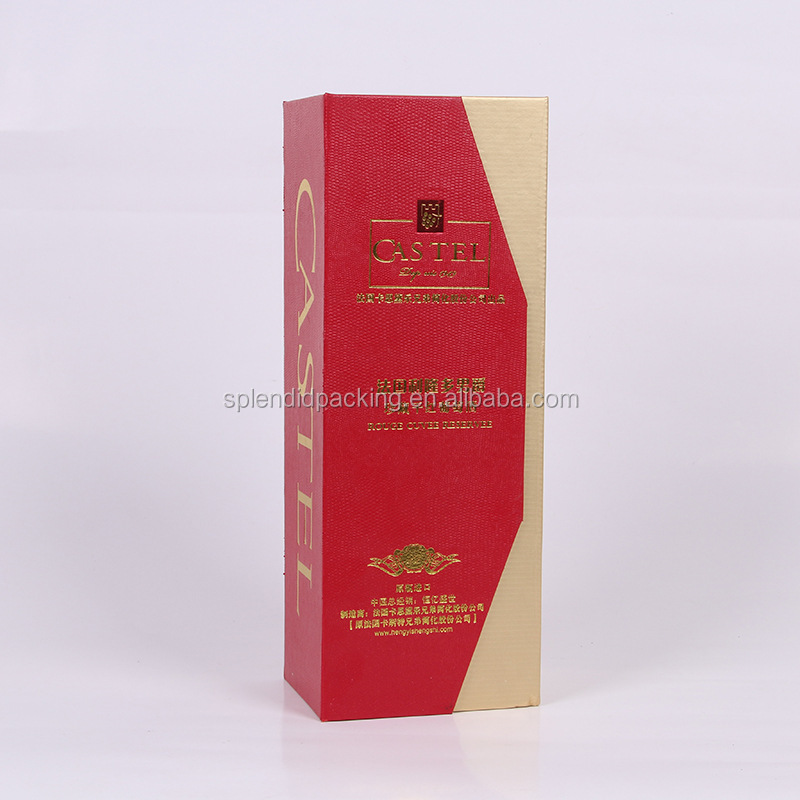 Yiwu Customized Logo Cover Paper Box Wholesale Hot Stamping Gift Box Wine