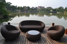 high end economic good looking rattan sofa outdoor semi circle furniture for sale