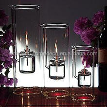HOT SALE! 5x20cm Decorative Indoor tube Glass Oil Lamp
