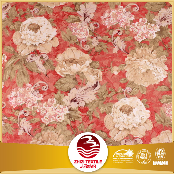 60% polyester 40% cotton printed flower dacron fabric polyester