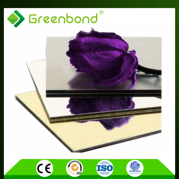 Greenbond waterproof high gloss aluminum plastic composite board