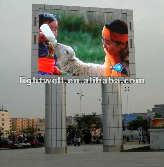 Alibaba express good vedio effect outside led channel letter sign board