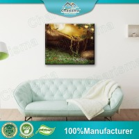 Frameless Oil Painting Polyester Canvas Wall Art 3D Picture For Home Office Decoration