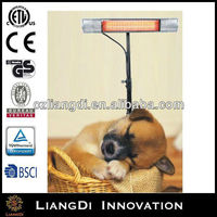 WaterproofQuartz Radiant Low Glare Patio Infrared Outdoor Wall Mounted Electric Fireplace Heaters