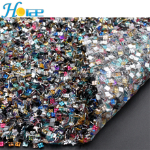 New design high quality acrylic rhinestone sheet hotfix rhinestone trimming for shoe and garmen
