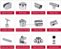 Stainless steel Round Glass Camp / Glass Fixing