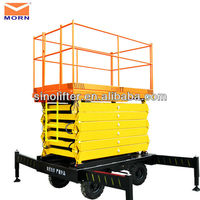 mobile scissor lift on tracks