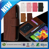 C&T Leather Wallet Book Flip Stand 2014 mobile phone case for samsung galaxy s5