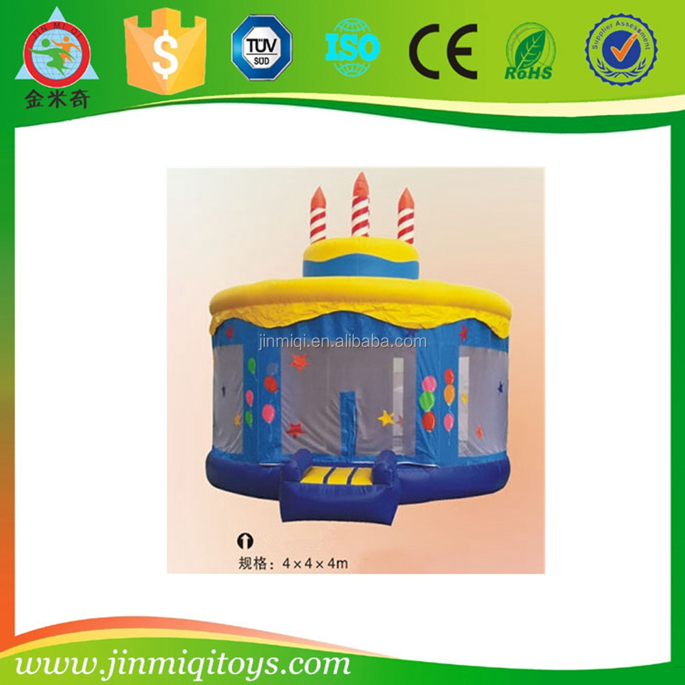 Happy birthday cake inflatable bouncer for indoor play