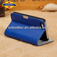 Luxury Design Card Slot By Genuine Leather Case with Stand Support for iPhone 5C