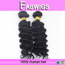Fabwigs 6A quality Fast delivery Indian virgin hair weave soft dread darling hair extension/ remy curly hair weaves