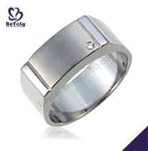 Stainless steel custom engraved masonic silicone wedding ring