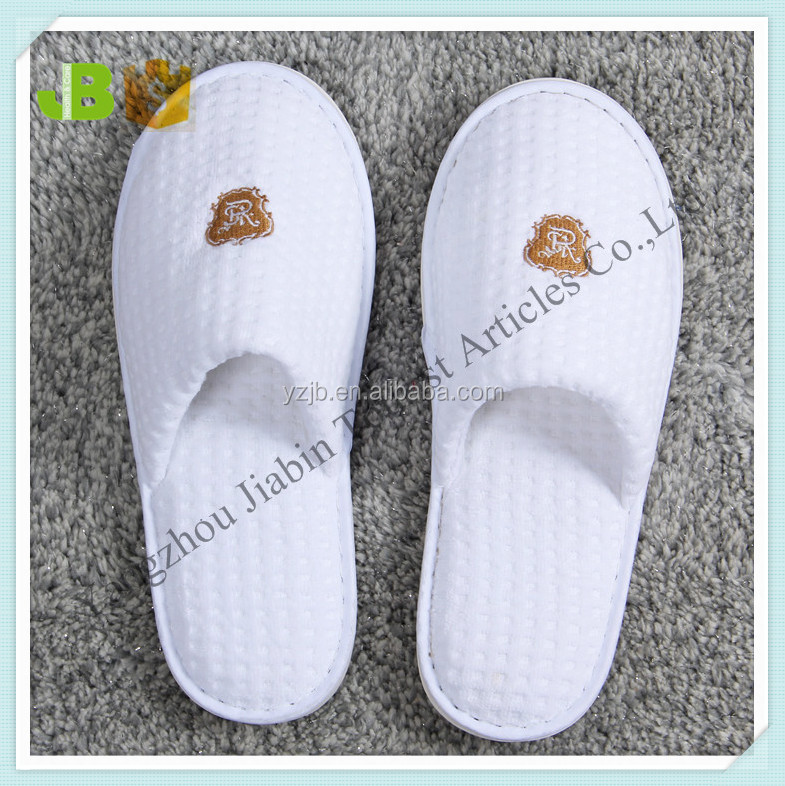 Five Star Hotel Closed Toe White Disposable Slipper for Hotel