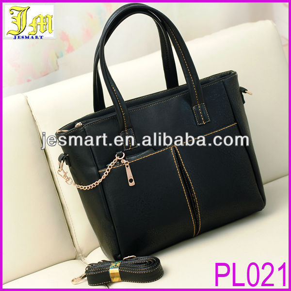 Guangzhou Market Hot Sell Black Women's Handbag With Small Purse