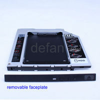 aluminum 12.5mm Universal IDE to SATA HDD caddy/case/enclosure