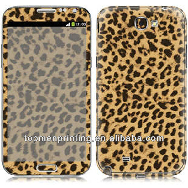 Eco-friendly highly simulation leopard skin for samsung galaxy note 3