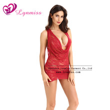 LYNMISS China Wholesale Lady Lace Nightwear Black Hot Sexy Mature Woman Lingerie