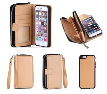 Factory Suppliers Genuine Leather Wallet Cell Phone Case For iPhone 6S 4.7inch