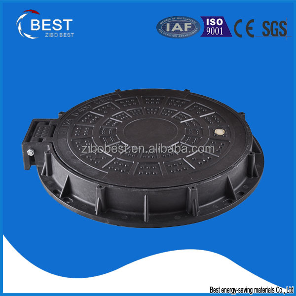EN124 C250 skid plate ship used composite telecommunication hinged manhole cover