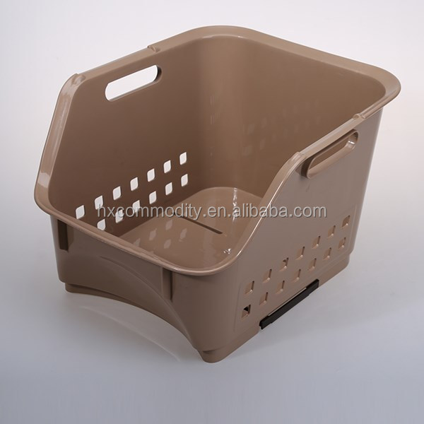 Collapsible Stackable Plastic Basket