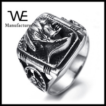 Punk Casting Design Men Face Ring for Stainless Steel Jewelry