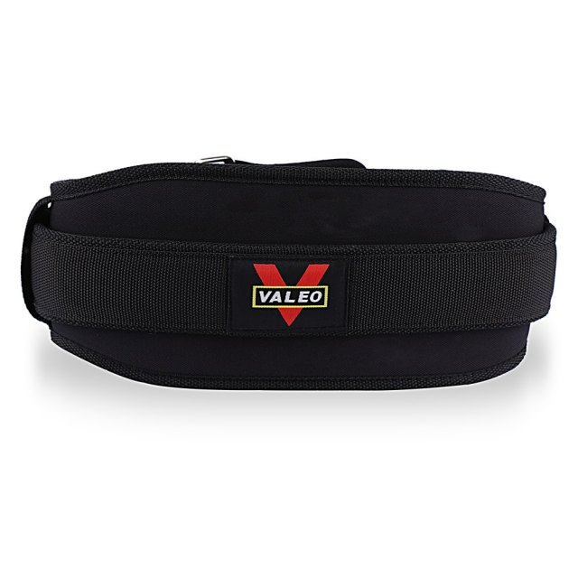 VALEO Nylon EVA Weight Lifting Belts Weight Lifting Squat Belt Fitness Lower Back Support Waist Gym for Gravity Training