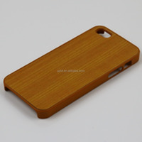 Unique Handmade Natural Wood Wooden Hard bamboo Case Cover for IPHONE5 mobile phone accessory for IPHONE5 wood case