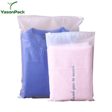 Custom Print Of Pe Frosted Ldpe Poly Plastic Flat Garment Zipper Packaging Slider Bag