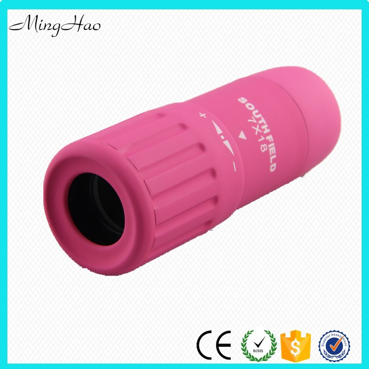 MInghao 7x18 mm Mini Monocular Pink Gift Telescope for Lady